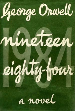 THE FIRST BRITISH EDITION, 1949  This first edition's cover art copyright is believed to belong to Secker and Warburg. I like that classic m...