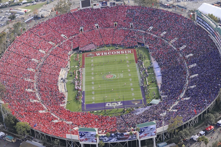 Rose Bowl Stadium for the TCU - Wisconsin Rose Bowl game