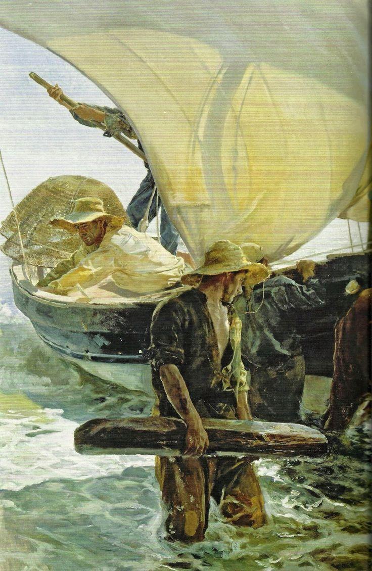 """""""en ATENEO"""": La VALENCIA de Sorolla La vuelta de la pesca, 1894, Joaquín Sorolla"""