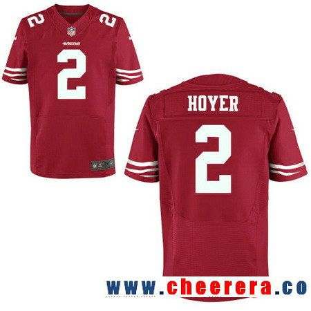 Mens San Francisco 49ers 2 Brian Hoyer Scarlet Red Team Color Stitched NFL  Dwight Clark Jersey ae942dbf9