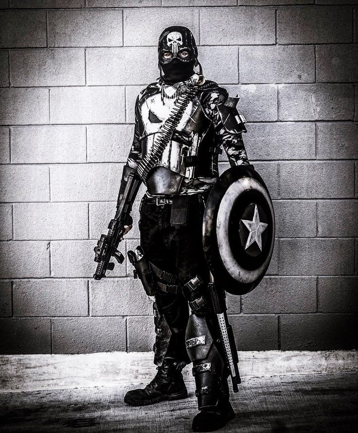 Happy Punisher Day!  @jonnyknowsphotos & @thetezeffect  #punisher #punishercosplay #alamocitycomiccon #comiccon #captainamerica #mashup #hybrid #cosplay #cosplayer #cosplayers #comiccon #marvel #marvelcomics #marvelcosplay #america #murica #mrca #new #batmanofsanantonio #badasscosplay #frankcastle #steverodgers #photography #edit #avengers #netflix #spurs #sanantonio #texas #guns #pewpew