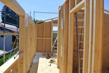 Wände in Holzständerbauweise