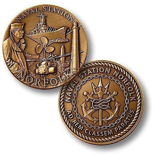 Naval Station Norfolk Challenge Coin