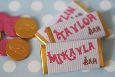 Willy wonka chocolate bars {www.montresor.com.au}