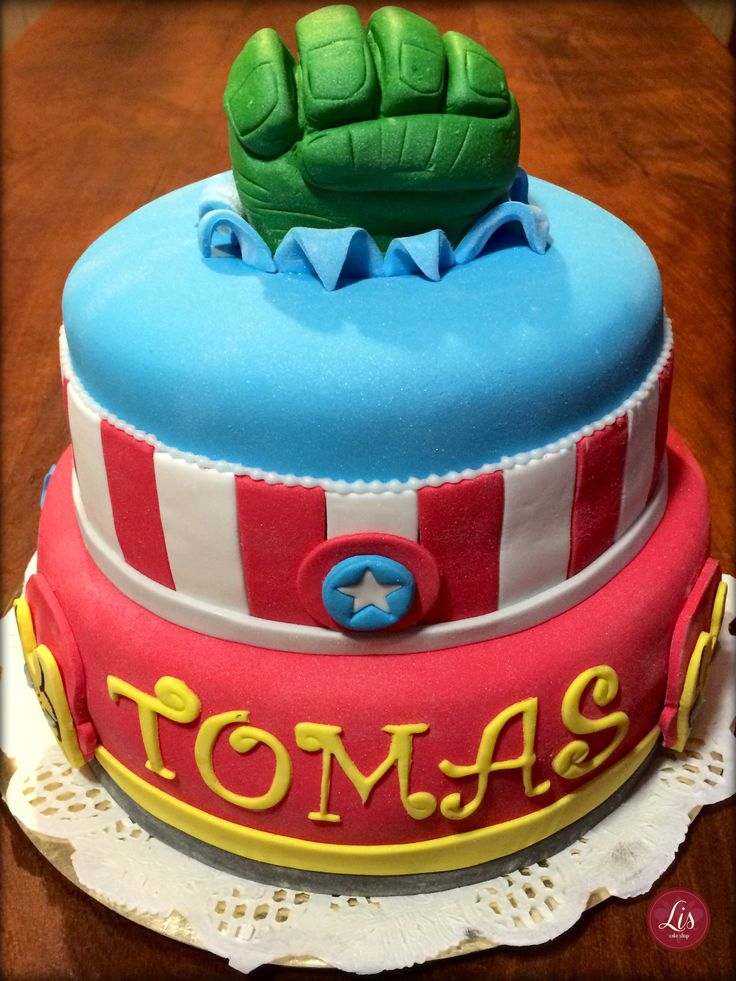 The avengers cake - torta de los vengadores - boy birthday
