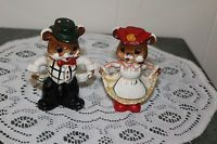 VINTAGE...CERAMIC...DANCING MICE.....SALT & PEPPER SHAKERS...JAPAN