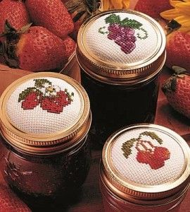 Cross Stitch Mason Jar Craft
