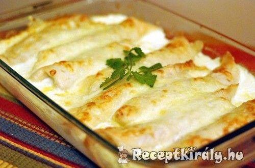 Palacsinta csirkés raguval töltve   Receptkirály.hu