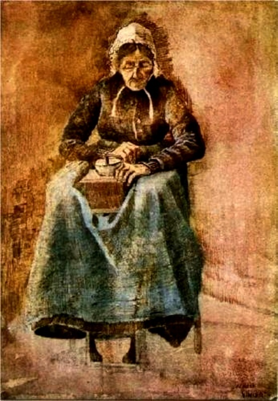 Vincent van Gogh: Woman Grinding Coffee.