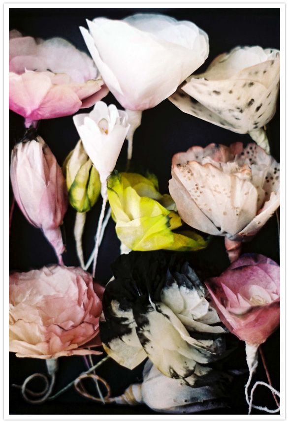 Gorgeous paper flowers by Lyndie Dourthe