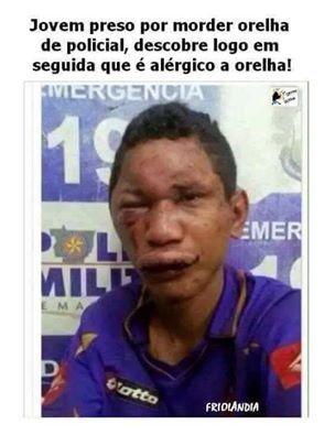 Imagem e Frases Facebook: Alérgico a orelha!