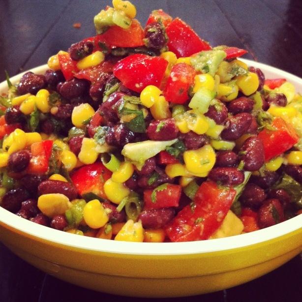 Black Bean, Corn And Avocado Salad Recipe — Dishmaps