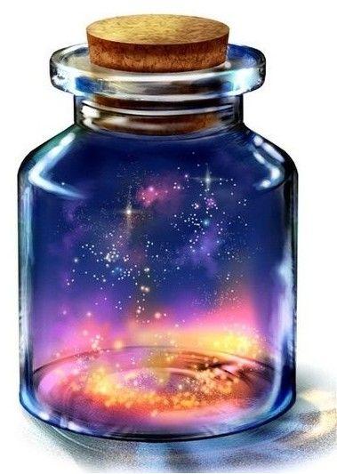 starry sky in a bottle