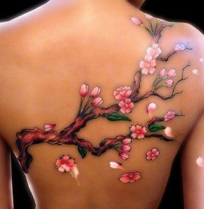 Tattoo Ideas, Trees Tattoo, Trees Branches, Back Tattoo, Tattoo Design, Blossoms Trees, Cherries Blossoms Tattoo, White Ink, Cherry Blossoms