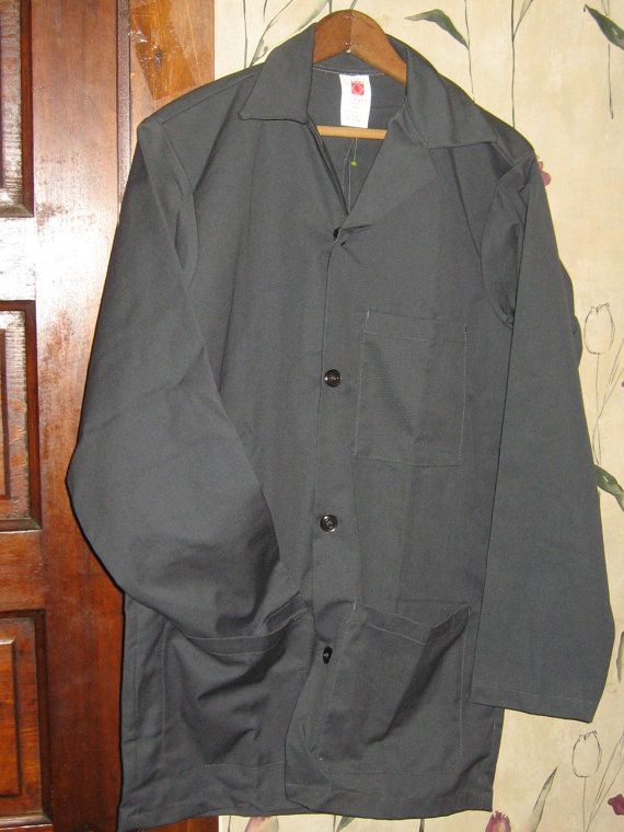 Vintage industrial workwear   gray long by Linsvintageboutique, $26.50