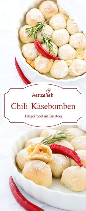 Fingerfood vom Feinsten! Chili-Käse-Bomben im Bier-Brotteig!  Chili Cheese Bombs in beer bread