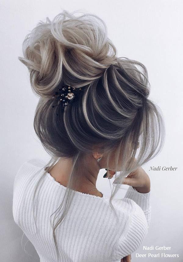 Top 18 High Bun Wedding Updo Hairstyles Women Hair Style 2018