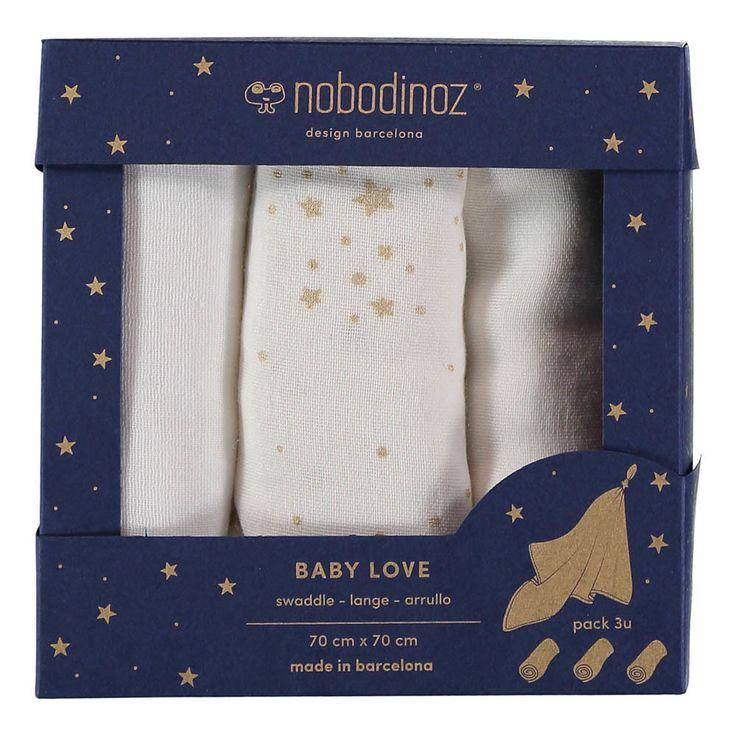 Langes Baby love en coton - Set de 3-product