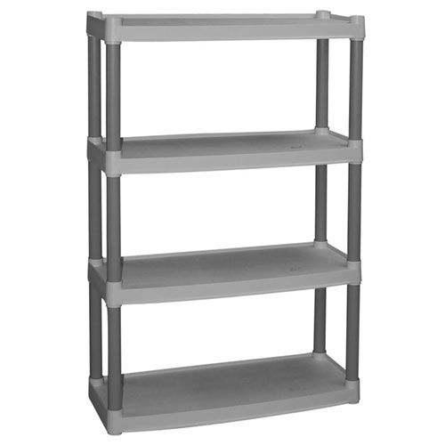 Plano 4-Shelf Storage Unit, Light Taupe
