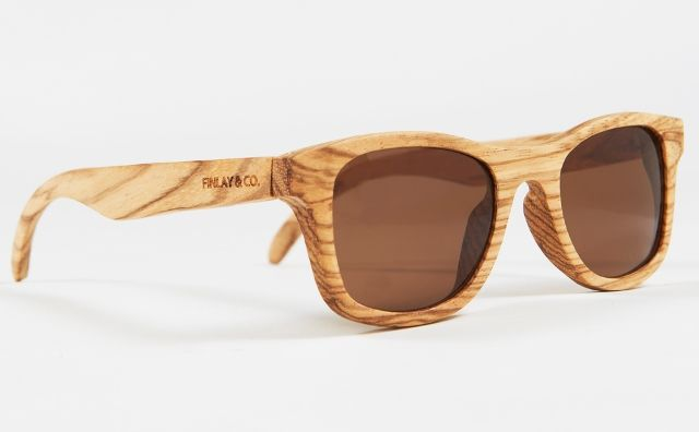 Handcrafted wooden sunglasses by Finlay & Co