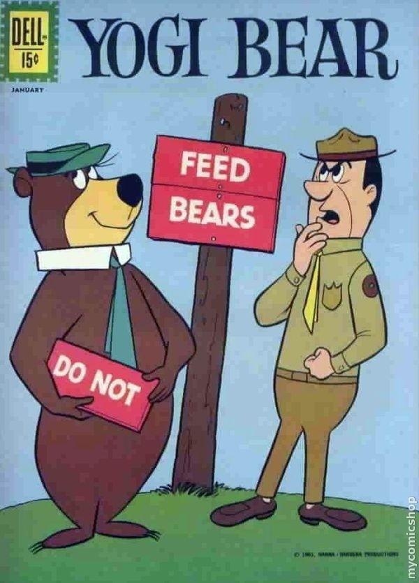 Yogi Bear Issue #6 (1959) Hey, Boo Boo. I'm smarter than your average bear.