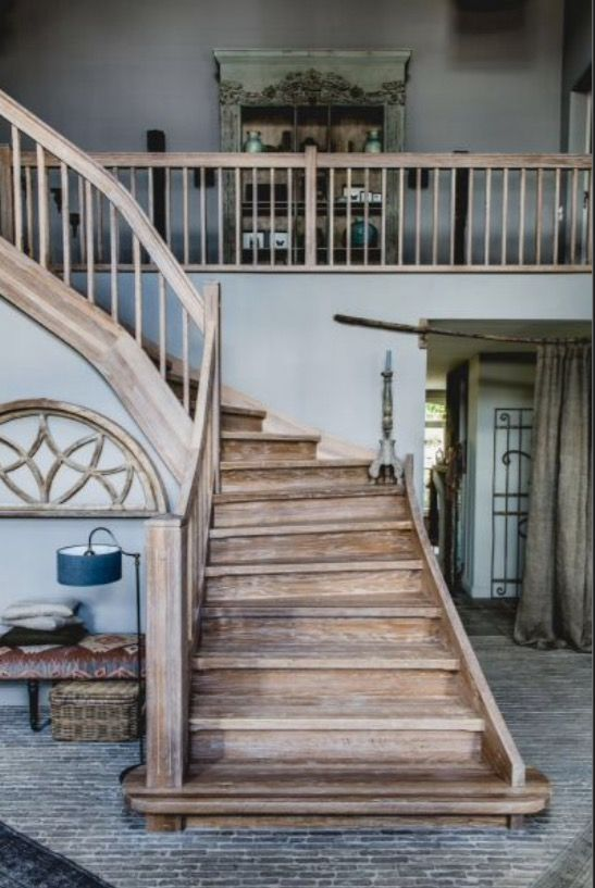 """This impressive wooden staircase is from our feature """"Grand Appearance"""""""