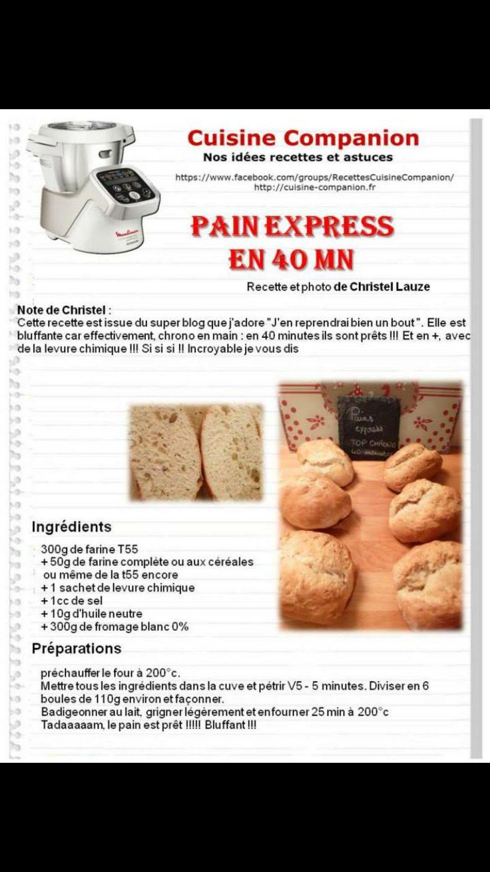 Pain express en 40 minutes :)