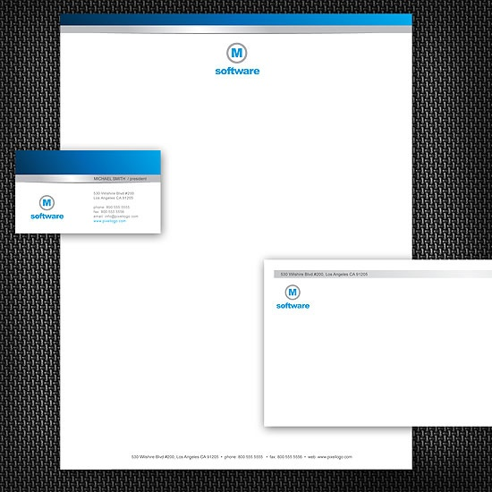 A White and Blue Stationery Set Design. #stationery #design  $29.00