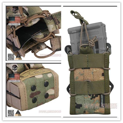 Modular Open Top Bolsa Única Revista MAG Bolsas Bolsas Molle Táctico Militar Caza de Airsoft Gear EM6035