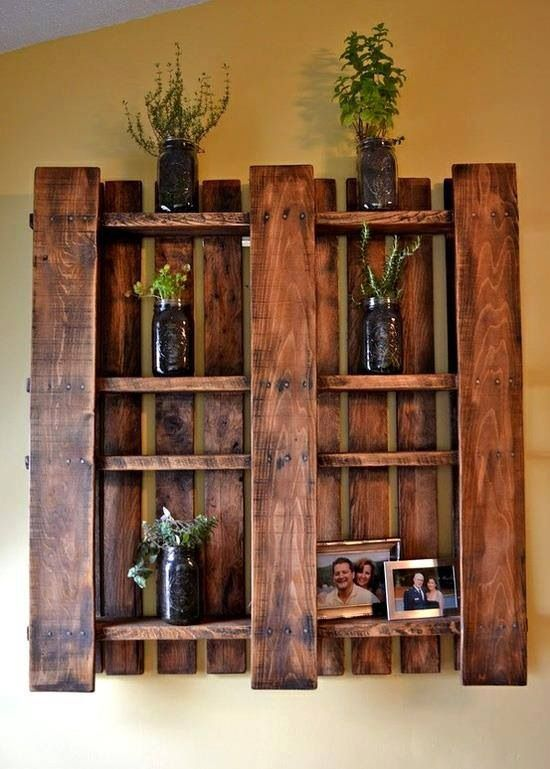 Reuse old pallets!  Indoor ideas are just as cool!