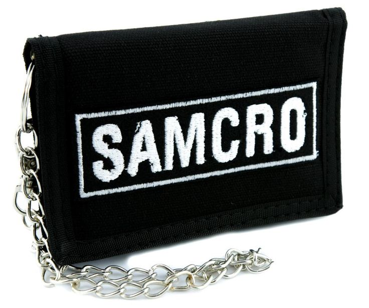 Sons of Anarchy Motorcycle Club Redwood Original SAMCRO Tri-fold Wallet Alternative Clothing  #gothic #hat #blackmetal #wallet #applique