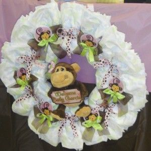 baby shower gifts baby gifts baby shower monkey diaper wreath fun