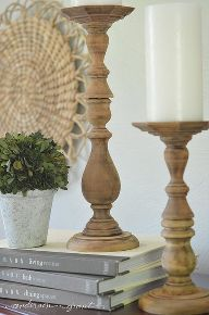 the easiest way to diy some rustic wood candlesticks, crafts, diy, home decor, repurposing upcycling