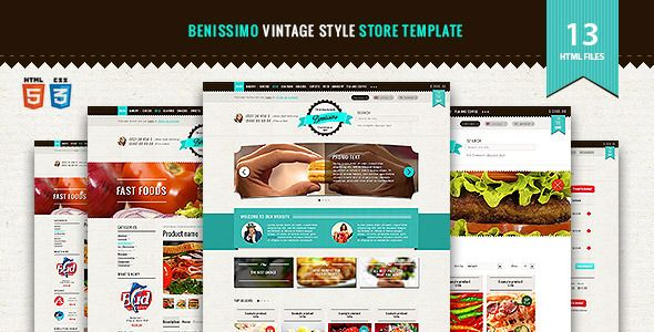 Benissimo — HTML5 & CSS3 store template . Benissimo has features such as Compatible Browsers: IE8, IE9, Firefox, Safari, Opera, Chrome, Columns: 2