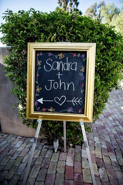 A welcome sign. We had plywood cut to size and painted with chalkboard paint
