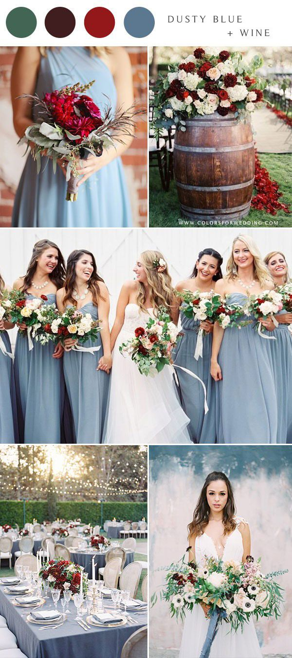 10 Dusty Blue Wedding Color Combinations For 2020 Colors For Wedding Wedding Color Schemes Summer Wedding Color Schemes Spring Wedding Color Combinations [ 1351 x 600 Pixel ]