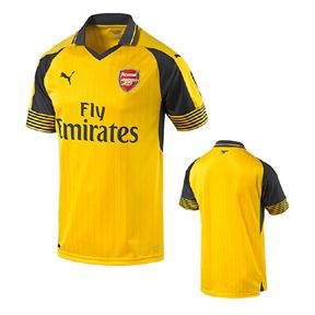 Puma Youth Arsenal Soccer Jersey (Away 2016/17): http://www.soccerevolution.com/store/products/PUM_40243_A.php