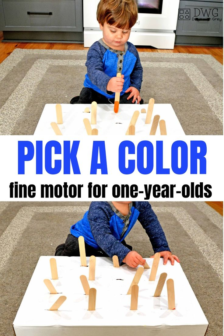 Jan 1 Fine Motor Game for One-Year-Olds