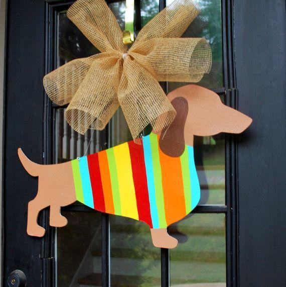 If only it were a chihuahua!!!! Lol!  Door Hanger Dog Door Decor Summer Door Hanger by LooLeighsCharm, $45.00