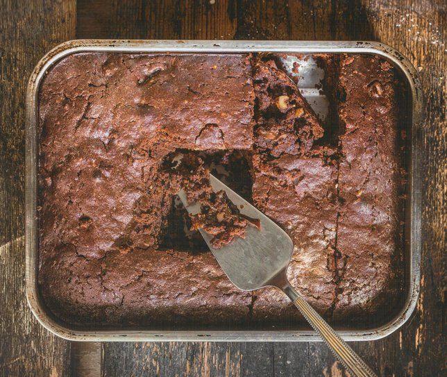 Νηστίσιμο brownies χωρίς αυγά και βούτυρο