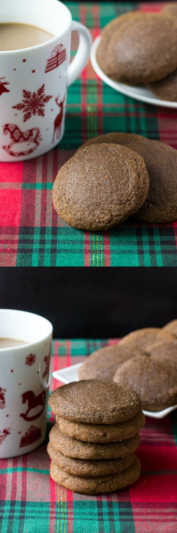 The softest, chewiest ginger molasses cookies. With brown sugar, molasses & lots of spices - this easy recipe is perfect for the holidays!