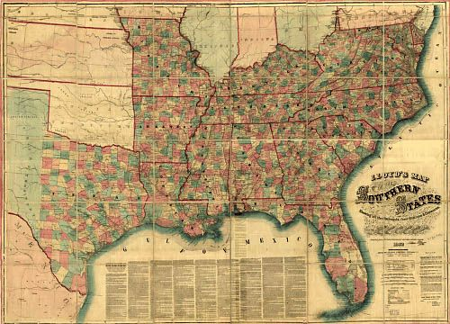 maps the southern states maps history us