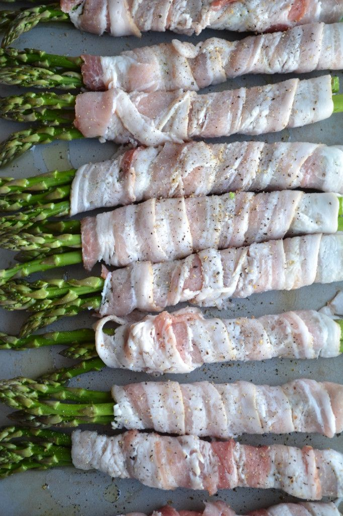 Bacon Wrapped Asparagus. I'm not an asparagus fan, though I try. Everything's easier to love with bacon. This did not disappoint.