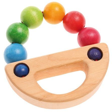 Caribou Baby - Grimm's Toys Rainbow Boat Grasping Toy