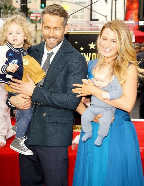 Blake Lively and Ryan Reynolds' with daughters James and Ines