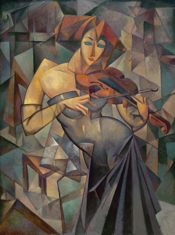 """oil painting,30x40,framed,""""Woman with violin"""" price $7950"""