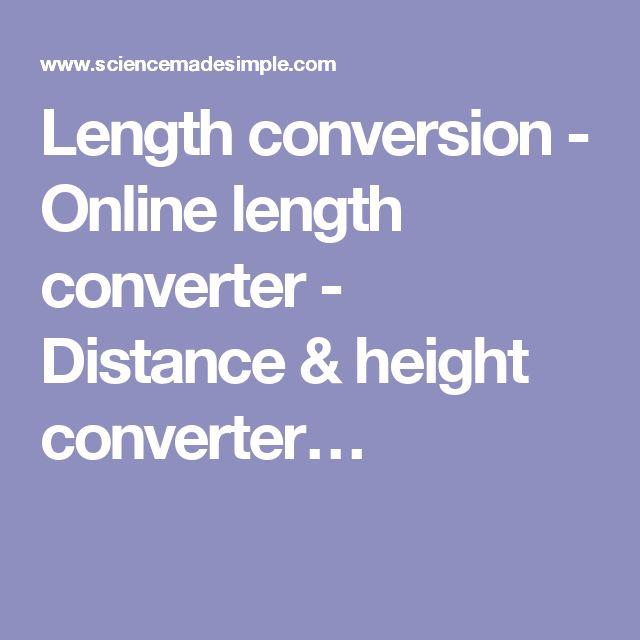 Length conversion - Online length converter - Distance & height converter…
