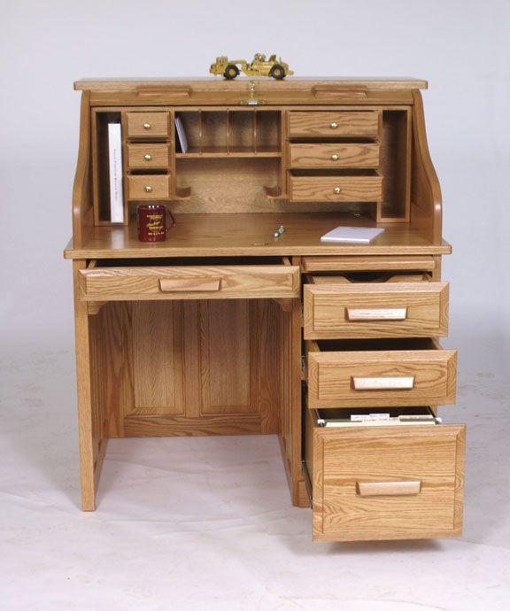 Amish 42 Standard Roll Top Desk Roll Top Desk Woodworking Desk
