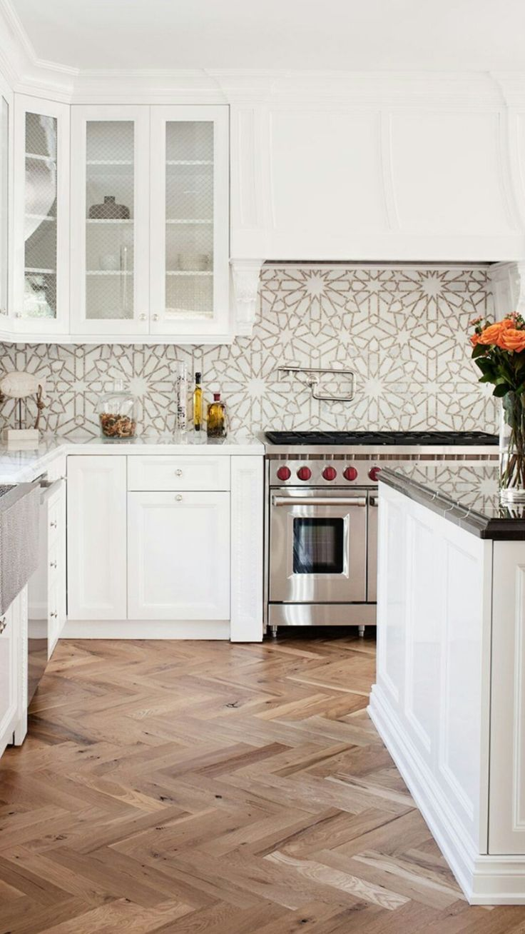 25 best backsplash ideas images on pinterest cuisine design castilla a natural stone waterjet and hand cut mosaic shown in jura grey honed and calacatta tia polished is part of the miraflores collection by paul dailygadgetfo Image collections