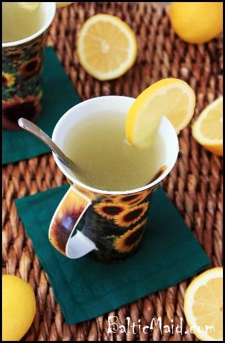 To boost the immune system - Hot Lemon Drink - high in Vitamin C